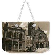 Holy Angel's Catholic Church Rectory  Belles Indian Saloon   The Great White Hope Set Globe Az 1969 Weekender Tote Bag