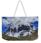Holy Kailas North Slop Himalayas Tibet Yantra.lv Weekender Tote Bag