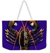 Homarus Vulgaris Flying On The Purple Weekender Tote Bag
