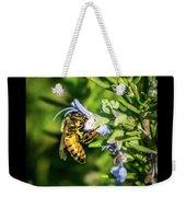 Honey Bee On Bush Weekender Tote Bag
