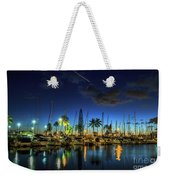 Honolulu Harbor By Night Weekender Tote Bag