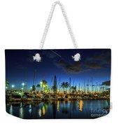 Honolulu Harbor By Night Weekender Tote Bag