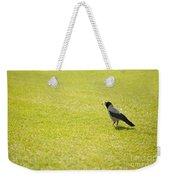 Hooded Crow Bird Gathering Hay Weekender Tote Bag
