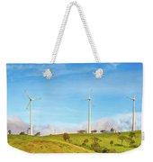 Horizontal Axis Wind Turbines. Panorama Weekender Tote Bag
