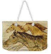 Horse Sketch Weekender Tote Bag