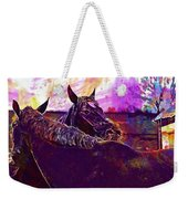 Horses Harmony For Two Animal World  Weekender Tote Bag