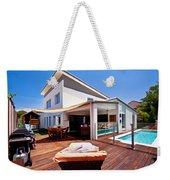 House And Pool Weekender Tote Bag