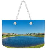 Houses Around Small Lake In North Port Weekender Tote Bag