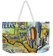 Houston Texas Cartoon Map Weekender Tote Bag