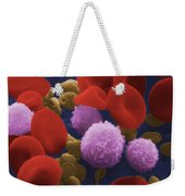 Human Blood Cells Weekender Tote Bag by NIH / Science Source