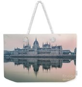 Hungarian Parliament In The Morning Weekender Tote Bag