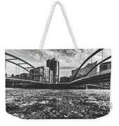 Ice Chunks On The Elbe - Hamburg Weekender Tote Bag