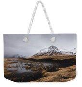 Icelandic  Mountain Landscape Weekender Tote Bag