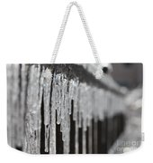 Icicles At Attention Weekender Tote Bag