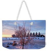 Icy Tree At Sunset  Weekender Tote Bag