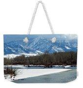 Idaho Winter River Weekender Tote Bag