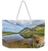 Idwal Lake Snowdonia Weekender Tote Bag by Adrian Evans