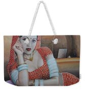 Indian Rajasthani Woman Weekender Tote Bag