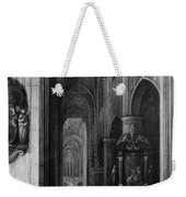 Interior Of A Gothic Church At Night Weekender Tote Bag