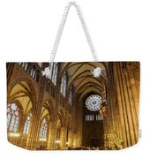 Interior Of Strasbourg Cathedral Weekender Tote Bag