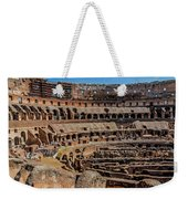 Interior Of The Coliseum, Rome, Italy Weekender Tote Bag