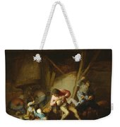 Interior With Drinking Figures And Crying Children Weekender Tote Bag