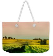 Iowa Cornfield Panorama Weekender Tote Bag