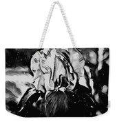 Iris In Black And White Weekender Tote Bag