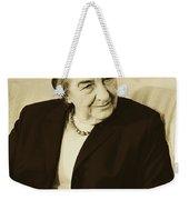 Israel Prime Minister Golda Meir 1973 Weekender Tote Bag