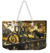 Jackdaw On Church Gates Weekender Tote Bag by Amanda Elwell
