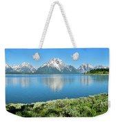 Jackson Lake Teton Panorama Weekender Tote Bag