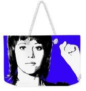 Jane Fonda Mug Shot - Blue Weekender Tote Bag