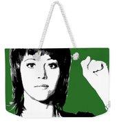 Jane Fonda Mug Shot - Green Weekender Tote Bag