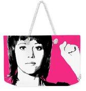Jane Fonda Mug Shot - Pink Weekender Tote Bag