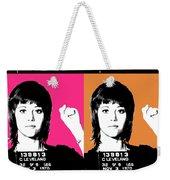 Jane Fonda Mug Shot X4 Weekender Tote Bag