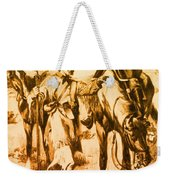 J.c. Fremont And His Guide, Kit Carson Weekender Tote Bag