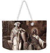 Jesus And The Woman Of Samaria Weekender Tote Bag