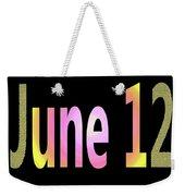 June 12 Weekender Tote Bag