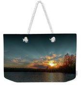 June Sunset On Nicks Lake Weekender Tote Bag