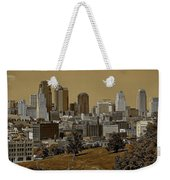 Kansas City Skyline Weekender Tote Bag