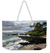 Ke Lei Mai La O Paako Oneloa Puu Olai Makena Maui Hawaii Weekender Tote Bag by Sharon Mau