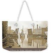 Kilbourn Avenue Bridge, Milwaukee, Wisconsin, 1915-1920, Vintage Weekender Tote Bag