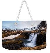 Kirkjufellsfoss Waterfalls Iceland Weekender Tote Bag