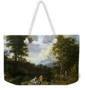 Klassische Landschaft Mit Arkadischer Weekender Tote Bag