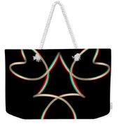 Knotplot 14 - Use Red-cyan 3d Glasses Weekender Tote Bag