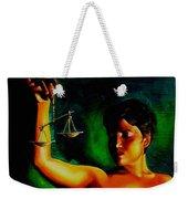Lady Justice Weekender Tote Bag