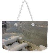 Lake Bohinj In Winter Weekender Tote Bag