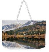 Lake Cabins In Fall Weekender Tote Bag