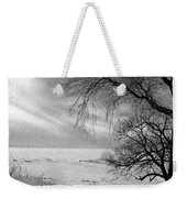 Lake Erie In Winter Weekender Tote Bag