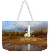 Lake Huron Lighthouse Weekender Tote Bag